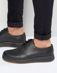 Туфли с 3 парами люверсов Dr Martens Lite Cavendish - Черный