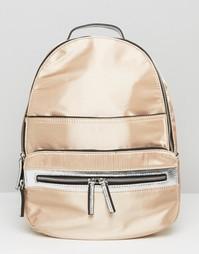 Рюкзак цвета металлик Miss Selfridge - Серебряный