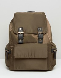 Рюкзак с пряжками Miss Selfridge - Зеленый