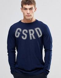 Лонгслив с логотипом G-Star Islev - Темно-синий