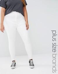 Зауженные джинсы с завышенной талией Missguided - Белый