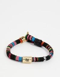 Тканый браслет в разноцветную полоску Icon Brand - Мульти
