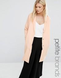 Длинное пальто свободного кроя Vero Moda Petite - Розовый