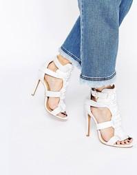 Кожаные босоножки на каблуке Forever Unique Divine - Белый
