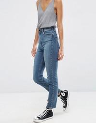 Синие рваные джинсы в винтажном стиле с завышенной талией ASOS FARLEIGH - Синий
