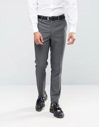 Зауженные брюки с узором гусиная лапка Farah - Серый