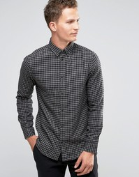 Фланелевая рубашка слим в клеточку Selected Homme - Серый