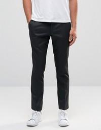Зауженные брюки из фактурной эластичной ткани Selected Homme - Черный