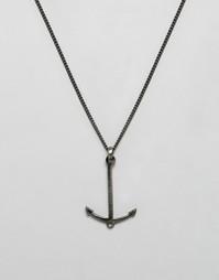 Ожерелье в старинном стиле с подвеской‑якорем Simon Carter эксклюзивно для ASOS - Серебряный