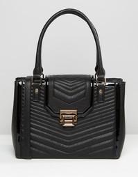 Стеганая сумка-тоут Dune - Черный