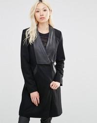 Пальто из искусственной кожи Y.A.S - Черный