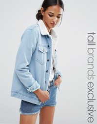Джинсовая куртка с отделкой из цигейки Daisy Street Tall - Синий