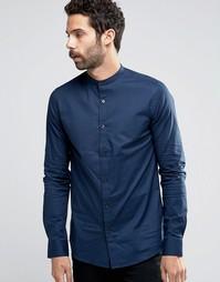 Рубашка суперузкого кроя с воротником на пуговицах Only & Sons - Темно-синий