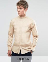 Рубашка в стиле ретро с белыми пуговицами Noak - Рыжий