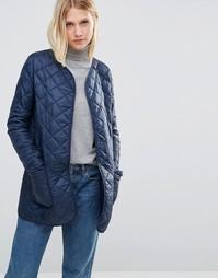 Темно-синяя стеганая куртка-пилот Cooper & Stollbrand - Темно-синий