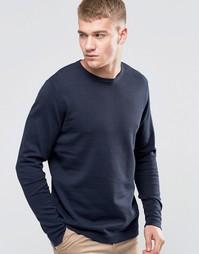 Базовый свитер с круглым вырезом Jack & Jones - Темно-синий