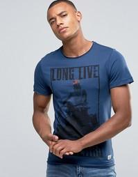 Синяя футболка узкого кроя Blend - Синий
