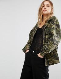 Камуфляжная куртка Gestuz Bello - Зеленый