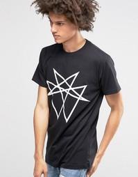 Oversize-футболка Long Clothing Octogram - Черный