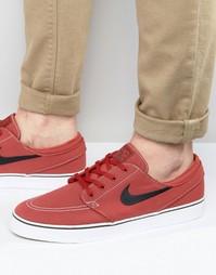 Красные парусиновые кроссовки Nike SB Stefan Janoski 615957-600 - Красный