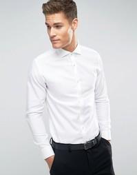Строгая рубашка зауженного кроя с длинными рукавами Jack & Jones Premium - Белый