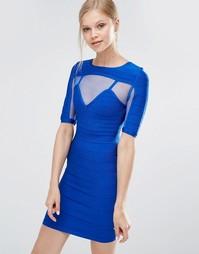 Бандажное платье с короткими рукавами Forever Unique Anousha - Синий