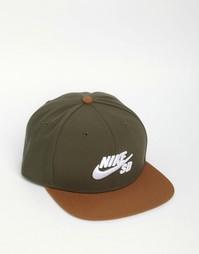 Зеленая кепка Nike SB Icon Pro 628683-325 - Зеленый