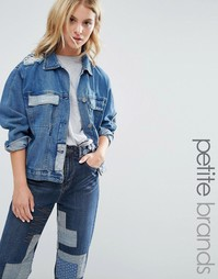 Джинсовая куртка в стиле пэтчворк Waven Petite - Синий