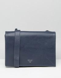 Строгая сумка через плечо Matt & Nat - Синий
