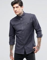 Фланелевая рубашка в клеточку Farah - Серый