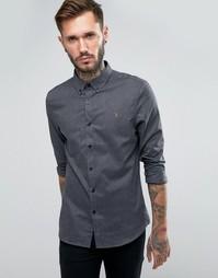 Рубашка узкого кроя с шевронным рисунком Farah - Серый