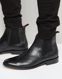 Кожаные ботинки челси Base London XXI Compton - Черный
