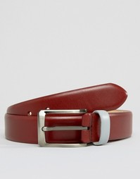 Узкий кожаный ремень Smith And Canova - Красный