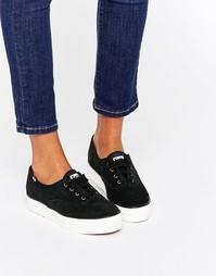 Замшевые кроссовки на платформе Keds 70S - Черный
