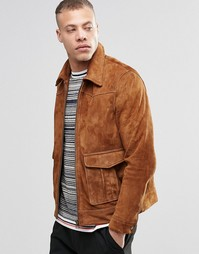 Замшевая куртка Weekday Sonny - Рыжий