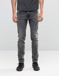 Серые джинсы скинни из мраморного денима Weekday Friday Generic - Серый
