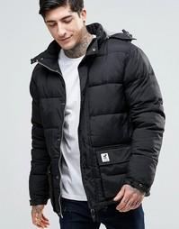 Стеганая куртка со съемным капюшоном Fat Moose Urban Heat - Черный
