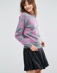 Джемпер с цветочным узором YMC - Розовый