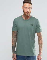 Зеленая футболка с логотипом на груди The North Face - Зеленый