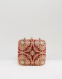 Клатч с вышивкой Park Lane - Красный