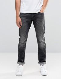 Черные выбеленные джинсы скинни Esprit - Черный