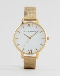 Часы с сетчатым ремешком Olivia Burton OB15BD84 - Золотой