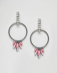 Серьги-кольца DesignB - Розовый