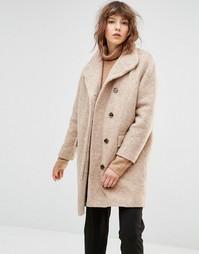 Шерстяное пальто Samsoe & Samsoe Hoffman - Коричневый