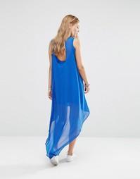 Платье с асимметричным краем Noisy May Hannah - Синий