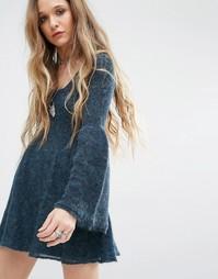 Платье-футболка бэби долл Free People - Синий