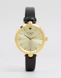 Часы с черным кожаным ремешком Kate Spade Holland 1YRU0811 - Черный