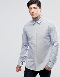 Белая рубашка слим в тонкую полоску Scotch & Soda - Белый
