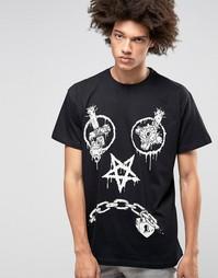 Oversize-футболка Long X Mishka Vex - Черный