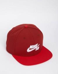 Красная кепка Nike SB Icon Pro 628683-674 - Красный